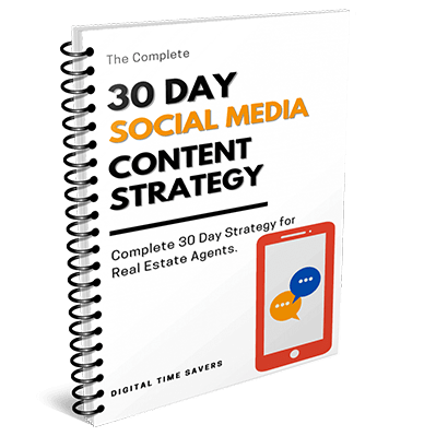 30 days social media content strategy for real estate