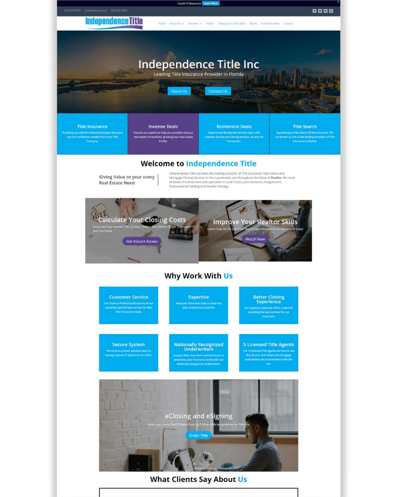 Digital Time Savers Portfolio - Independence Title